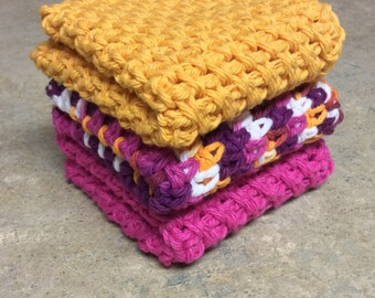 Dishcloth, Washcloth -set of 3