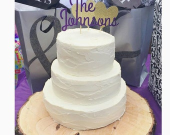 Personalized Name Wedding Cake Topper,