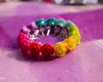 Cute Handmade Rose Earrings