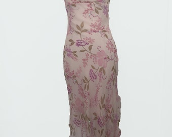 2000's Floral Cowl Tank Dress by Romerecci