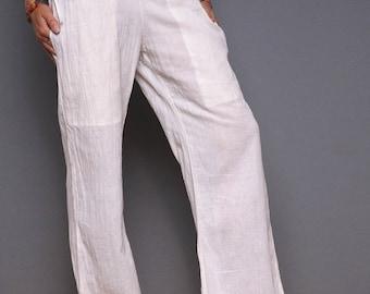S-L, Yoga pants, khadi pants, tai chi pants, women pants, cotton pants,hippie pants,summer women pants, white summer pants, black yoga pants