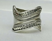 sterling silver tribal ring, sterling silver wide ring, sterling silver band ring, vintage silver ring, vintage ring, silver jewelry