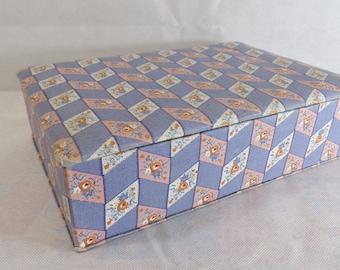 Box a Provençal fabric sewing - french sewing box - knitting box - vintage-