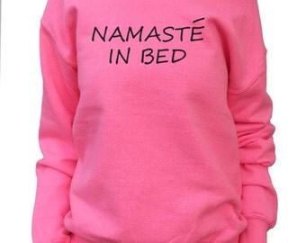 Namaste In Bed.  Off shoulder Slouchy Sweatshirt Women's.  Oversized Sweatshirt.