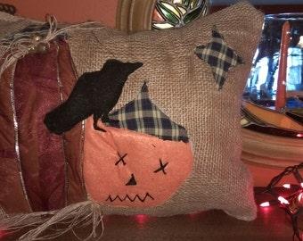 Halloween pillow primitive