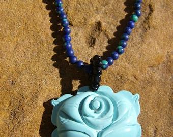 Carved Flower Necklace