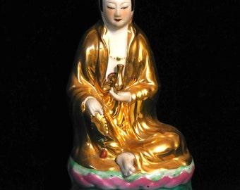 Kwan Yin Goddess of Mercy-- Chinese porcelain