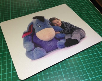 Personalised Mouse Mats Your Photo On Heart, Circle Or Rectangle Shape Mouse Mats
