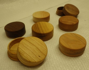 Hand-turned Wooden pill boxes (not all pictured)
