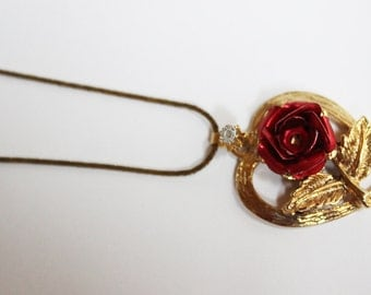Heart & Rose Vintage Necklace
