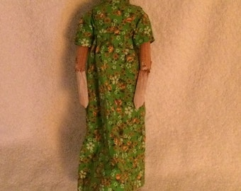 "Grodner tal Antique Wooden Peg Doll  | Carved Collectible 11"" Grodnertal Doll"