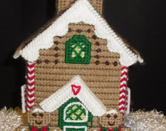 Ginger Bread Needlepoint Tissue Box Holder