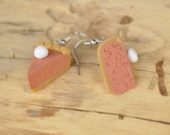Miniature Pumpkin Pie Earrings