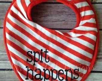 Spit happens bib