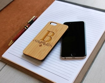 Personalized Iphone 6 case, Custom Iphone 6 case, Wood Iphone 6 case, Laser Engraved Iphone 6 case, Bamboo Iphone 6 --IP6-BAM-B