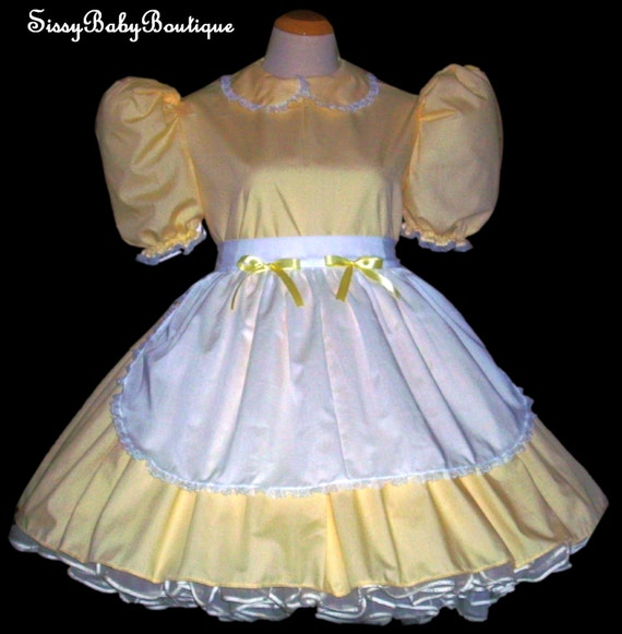 Items Similar To Adult Sissy Baby Yellow Cotton Dress Maid