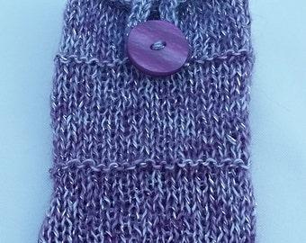 Sparkly Purple Phone Sock