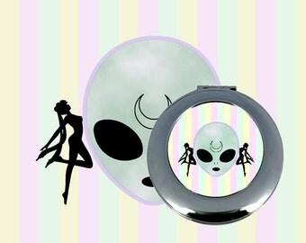 alien sailor moon compact mirror
