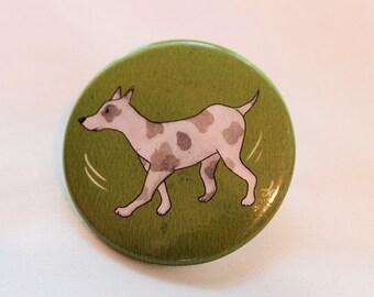 Dog - Pinback Button / dog - Badge / Watercolor / Watercolour