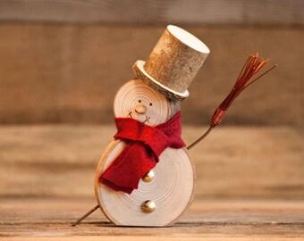 Snowman-Hornbeam wood Series, handmade.