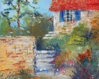 Painting The garden in staircases