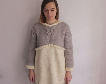 Items similar to Black Long Sleeved Knit Sweater Pullovers ...