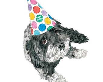Custom Dog Portrait-Birthday Gift-Birthday Ideas-Dog Lover-Pet loverPersonalized Dog Portrait-Memorial-Gift-best friend-Dog Portrait