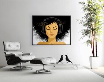 Feel the Music - Art Print, Music Wall Art, Poster, Wall Decor