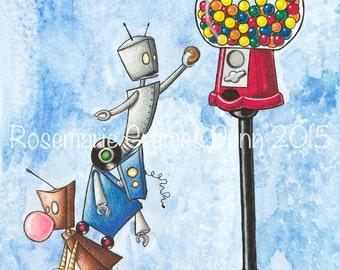 Precarious Robot Gumball fine art print