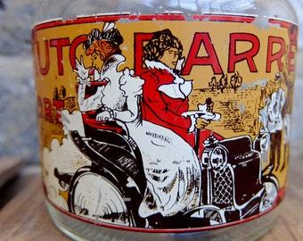 French Vintage Decorative 'Automobile' Glass Jar