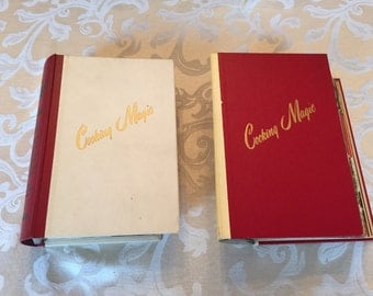 Cooking Magic Volumes 1 & 2  Fabulous Foods Step-By-Step Vintage 1950's Cookbooks Cookbook Collection