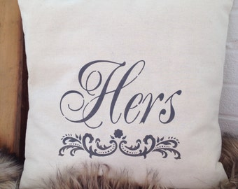 Hers Pillow Cover
