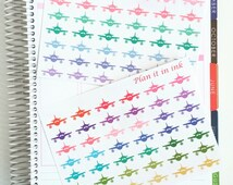 Airplane Travel Planner Stickers // 42 Stickers // For your Erin Condren, Filofax, and more