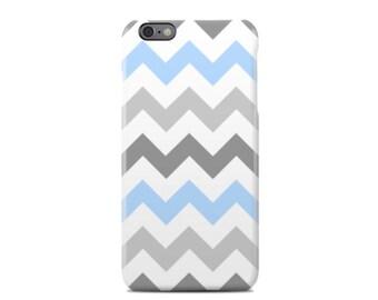 Grey & Blue Chevron iPhone 6 Case - iPhone 6S case - iPhone 6 Plus Case - iPhone 5 Case - iPhone 5S Case - iPhone 5C Case