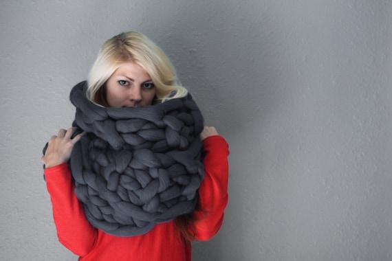 Chunky Šála, vlna šátek, merino vlna šály, pletené šály, Ručně pletené šály, pletené šály, šály, podsaditý pletené šály, Vlna pletená šála, šátek