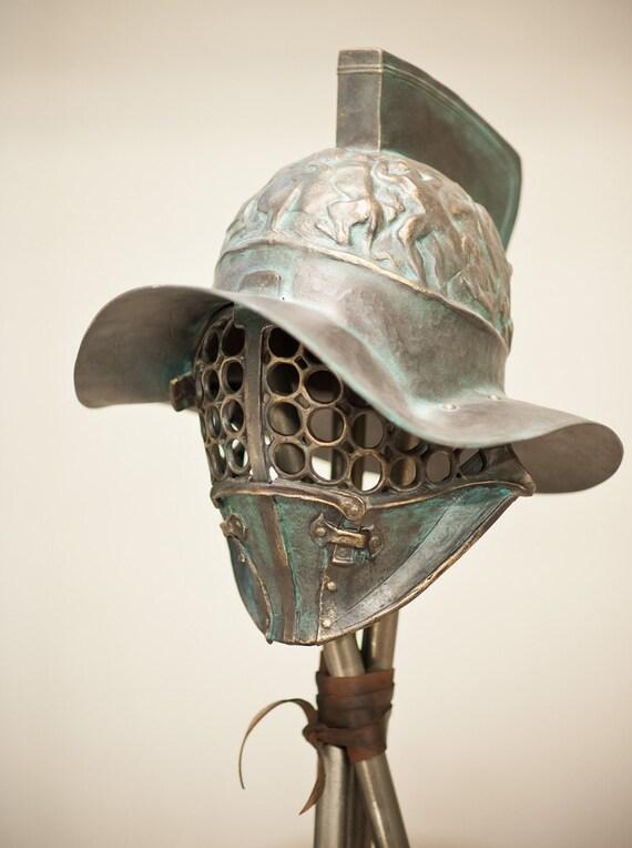 Ancient Pompey Gladiator Helmet Roman Helmet Ancient Bronze