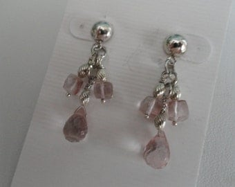 Pink Mystic Quartz Earrings  -  #392