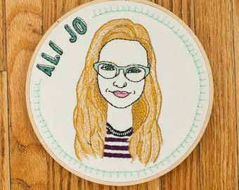Custom Embroidered Portrait with Name