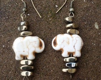 Elephant Earth Toned Earrings