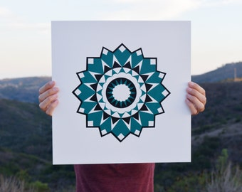 Mandala Art Screen Print