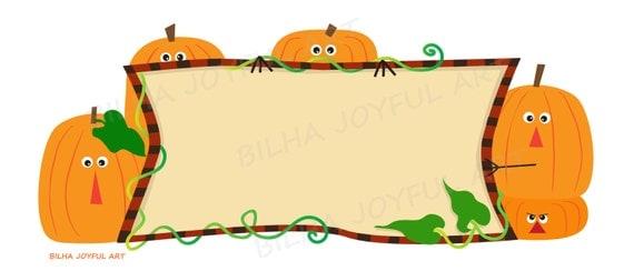 Items similar to Pumpkins Banner blank sign holiday