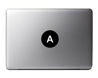 Macbook Decal - Letter, Alphabet Vinyl Sticker A-Z