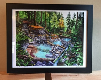 Cougar Hot Springs Fine Art Print