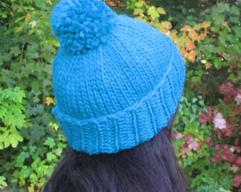 Wool hat, pom pom hat, knitted hat, pom-pom winter hat