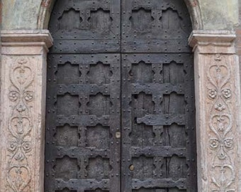 church door photography, Italy photography, Verona photography, home decor, wall print, brown, tan, neutral home decor, hearts