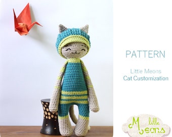 Crochet PATTERN - Cat customization Little Meons -  Amigurumi pattern, crochet amigurumi pattern, amigurumi cat, crochet cat, cat pattern