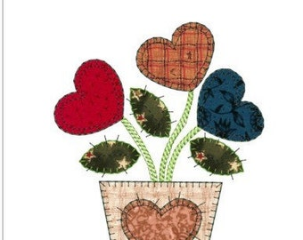 """APPLIQUE autumn flowers machine embroidery download 3 different sizes (6x7""""5x6""""4x5""""hoop)"""
