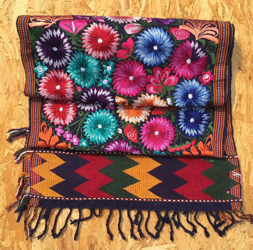 Mexican Folk Rug Table Runner Wall Hanging Carpet Home
