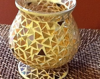 Handcrafted Mosaic Glass Vase