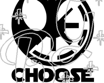 Star Wars Inspired Choose Wisely Car Decals
